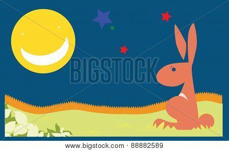 Vector Poster Background Rabbit Children Book Child Concept