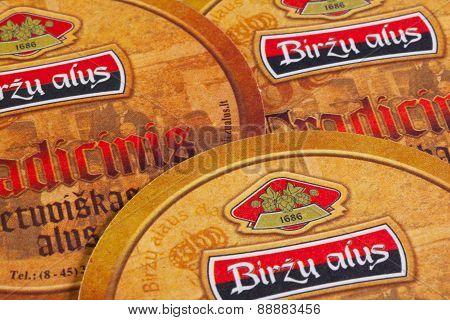 Beermats From Birzu Alus Beer.
