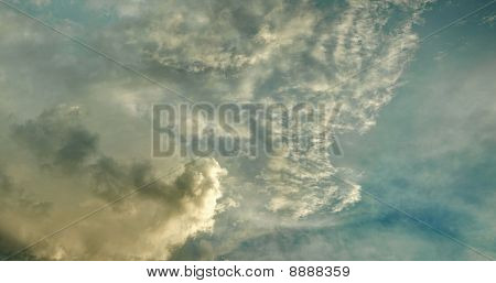 Evening Sky With Stratus Clouds