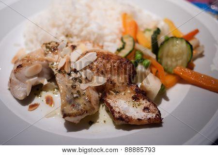Fish dish with rice