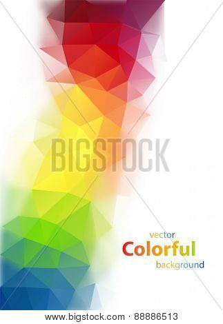 Abstract colorful diamond shaped vector background