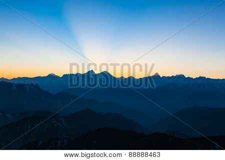 Twilight On Cattle Back Mountain