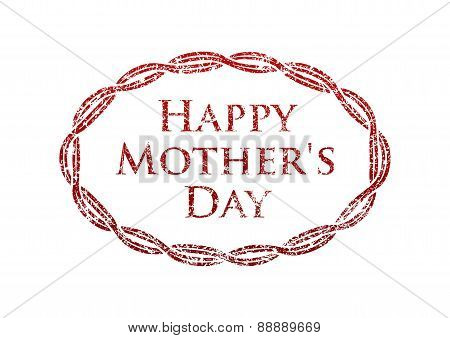Happy Mother's Day - rubber stamp. Vector illustration for your design.