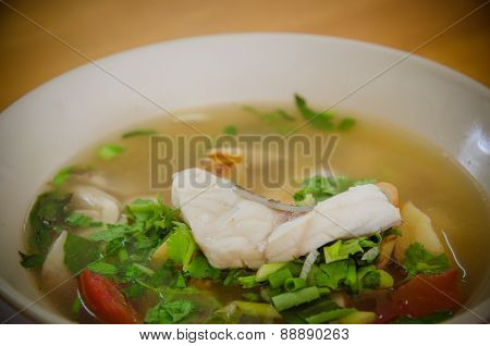 The Food Name Is Fish Tomyam.