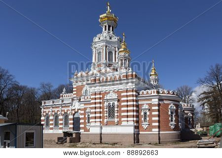 Church of the Resurrection in the Smolensk cemetery. St. Petersburg.