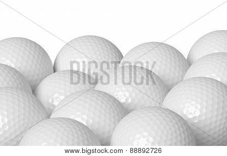 Golf Balls Isolated On White
