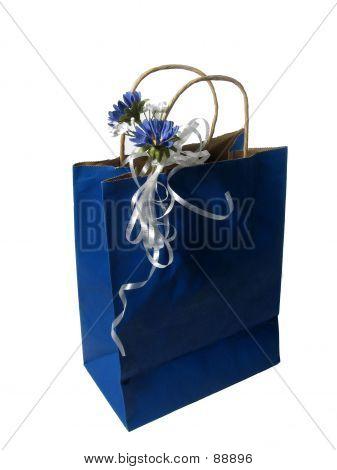 Bolsa de regalo azul