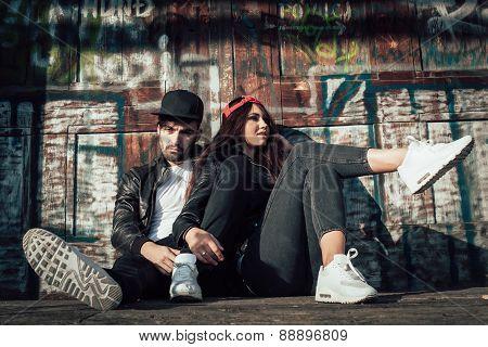 Young Urban Couple Posing