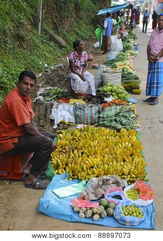 Banana Vendor, Sri Lanka
