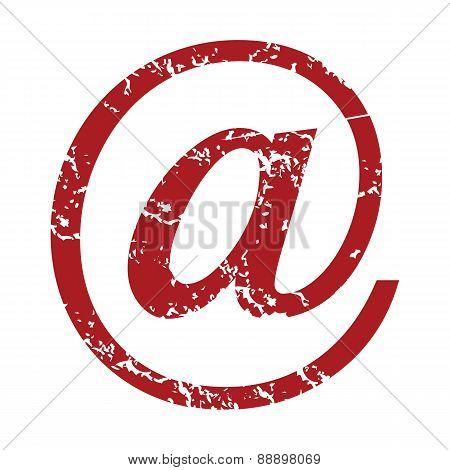 Red grunge email logo