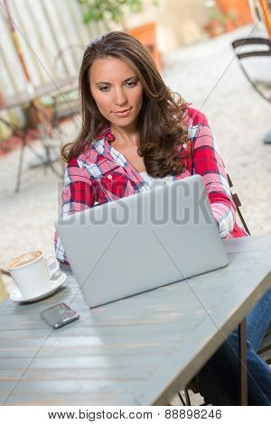 Laptop Typing Woman