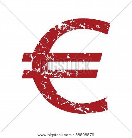 Red grunge euro logo