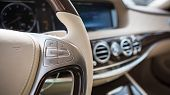 picture of car-window  - Luxury car interior details - JPG