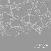 stock photo of cybernetics  - Vector design element of white abstract cybernetic particles - JPG