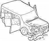 foto of bender  - Hand drawn cartoon of SUV car finder bender - JPG