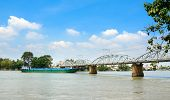 stock photo of old bridge  - Bien Hoa Vietnam  - JPG
