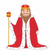 stock photo of king  - Happy smiling old king  - JPG
