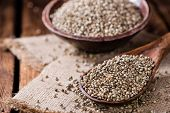 picture of seed  - Portion of Hemp Seeds  - JPG