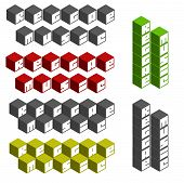 picture of reggae  - reggae music cubic square fonts in different colors - JPG