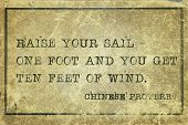 picture of ten  - Raise your sail one foot and you get ten feet of wind  - JPG