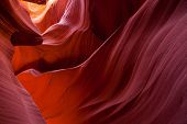 picture of antelope  - Sandstone pattern in lower Antelope canyon Page Arizona - JPG