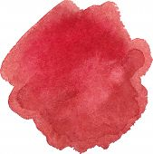 stock photo of marsala  - Vector illustration of Watercolor marsala color spot - JPG
