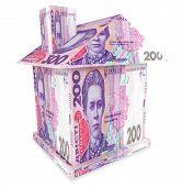 Постер, плакат: House From Ukrainian Money Hryvnia