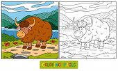 stock photo of yaks  - Game for children - JPG