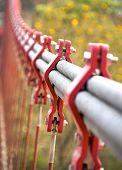 picture of bundle  - The closeup of bundle cables on suspension bridge - JPG