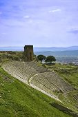 picture of akropolis  - Ruins of ancient theater in acropolis of Pergamon - JPG