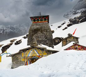 foto of mahabharata  - Tungnath is the temple of Lord Shiva is located on a mountain ridge Tungnath in the state of Uttarakhand India - JPG