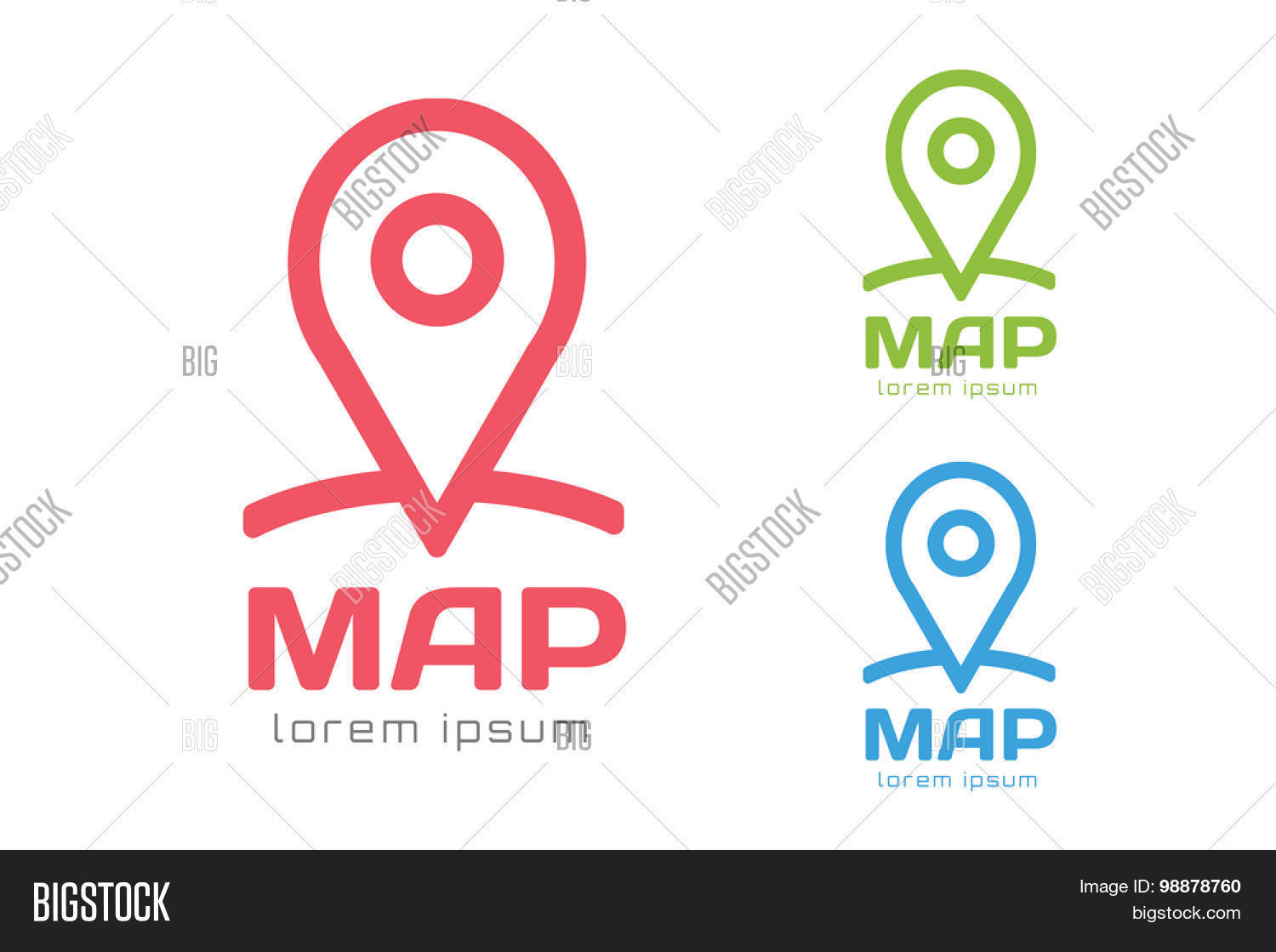 Map pin vector logo icon template Travel logo marker shape pin – Travel Marker Map