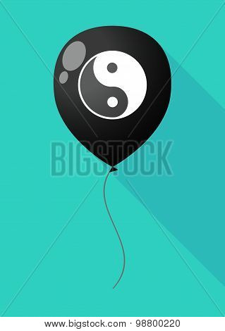 Long Shadow Balloon With A Ying Yang