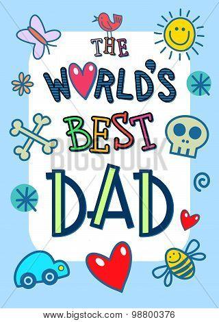 Worlds Best Dad Card