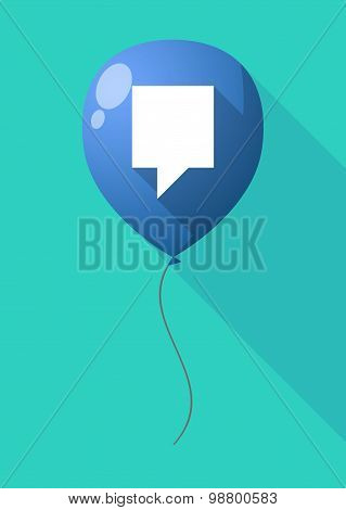 Long Shadow Balloon With A Tooltip