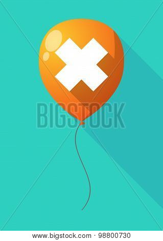 Long Shadow Balloon With An Irritating Substance Sign