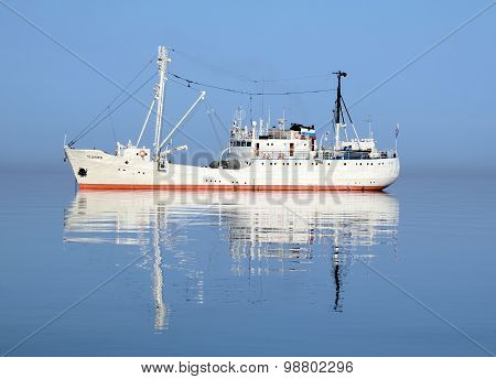 Baikal, Russia - July,20 2015: The research vessel on Lake Baikal