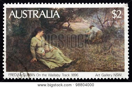 Postage Stamp Australia 1981 On The Wallaby Track