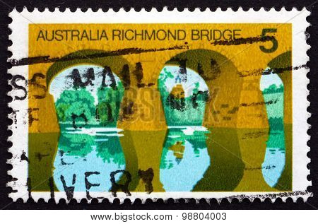 Postage Stamp Australia 1976 Richmond Bridge, Tasmania