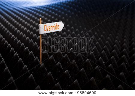 Directional Signs On Bumpy Black Background
