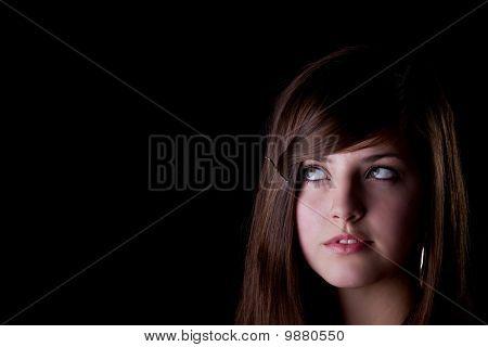 Young Teenage Girl Looking