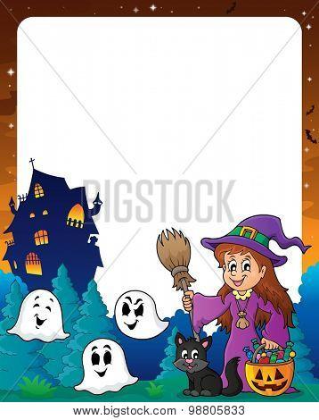 Halloween theme frame 8 - eps10 vector illustration.