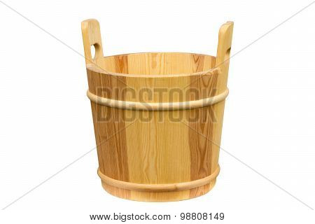 Wooden Bucket For A Sauna.