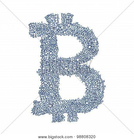 Bitcoin Hand-drawn Symbol