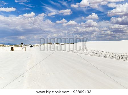Driving through White Sands