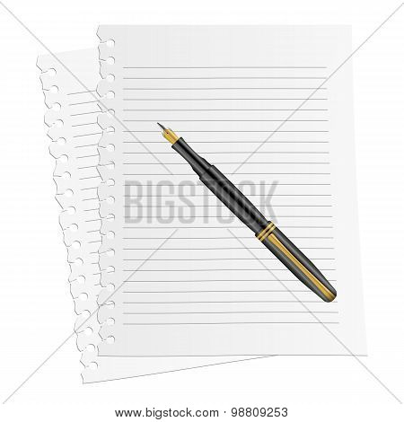 Notebook Paper Pen