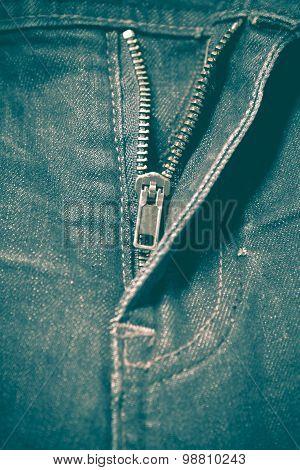 Zip In Jean Retro Vintage Style