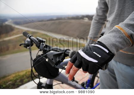 Hands On A Bike Handlebar