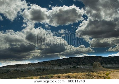Clouds And Desert Beauty
