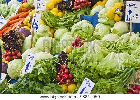 Vegetables on a street market